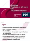 Build Your Own PaaS for MySQL With Tungsten Enterprise Presentation