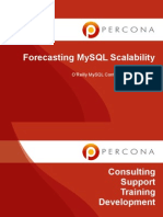 Forecasting MySQL Performance and Scalability