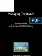Maintaining Terabytes