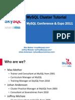 MySQL Cluster Tutorial