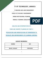 Planning Legislation TCPA Part V