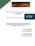 LINHARES Nvivo e Anáslise de Ideologia Qualitativa