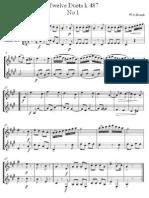 Twelve Duets k.487 (clarinets duet) - Wolfgang Amadeus Mozart