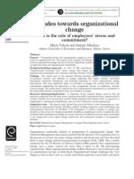 Attitudes Toward Org Change