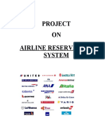 Airline Reservation System Project Documentation | Software