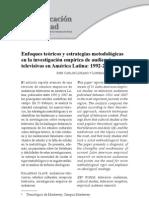 Enfoques teóricos y estrategias metodológias en investigación de audiencias