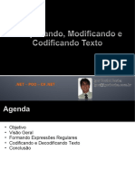 .NET - POO - C# .NET - Aula 03 - Pesquisando, Modificando e Codificando Texto