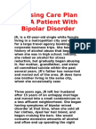 Nursing Care Plan for A Patient With Bipolar Disorder