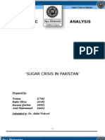 SUGAR CRISIS IN PAKISTAN