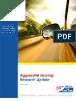 Aggressive Driving Research (April 2009)
