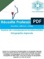 REGIONALE - SOMME DE CONNAISSANCES FONDAMENTALES