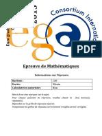 Mathematiques P Ega2015