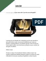 CNJ Serviço_ em que casos não é preciso um advogado_