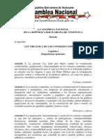 Ley Organica de Consejos Comunales 2009