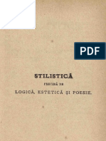 Stilistică precesă de Logică, Estetică şi Poesie