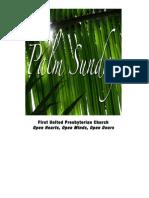 Order of Service Palm Sunday 2011