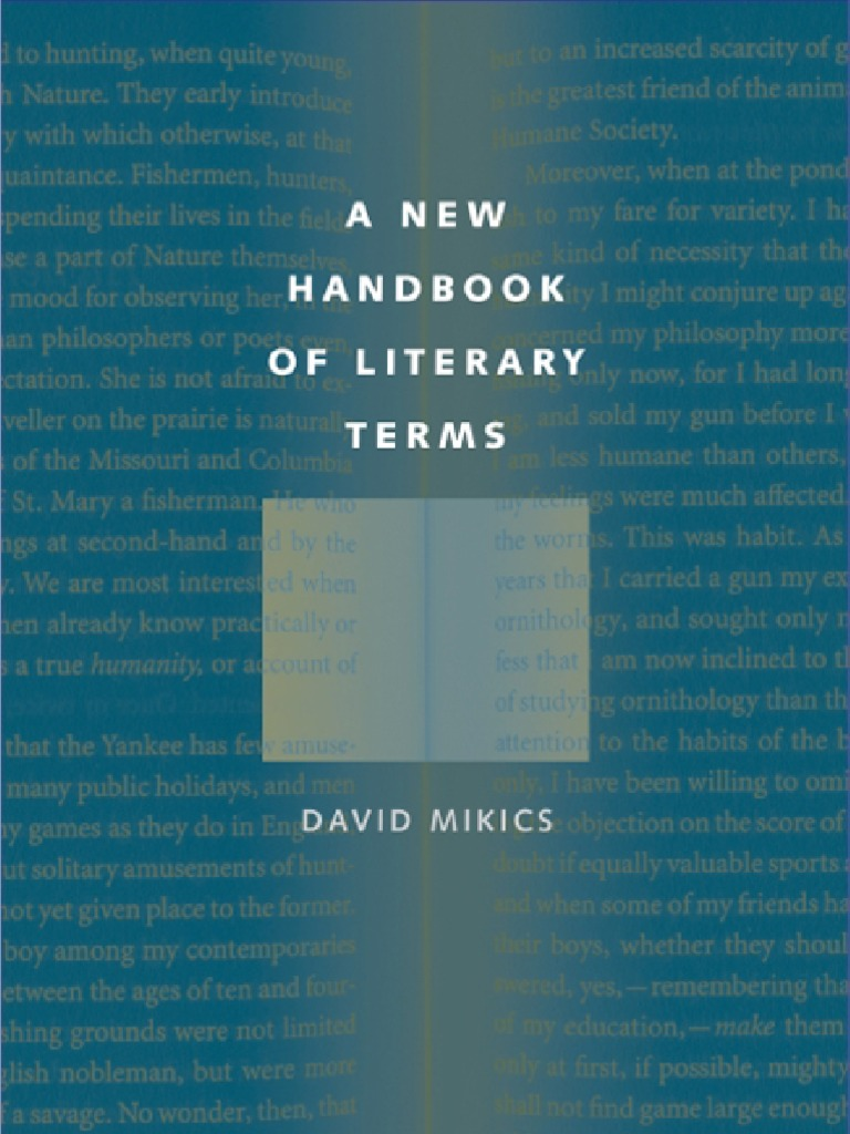 A New Handbook of Literary Terms | Analytic Philosophy | Aesthetics