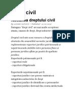 Drept Civil - Andrei Savescu - An 1 Sem 1 RAU