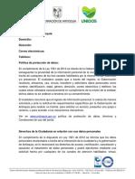 Política Protección de Datos Gobernación de Antioquia