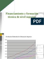 Financiamiento Ed. Técnica Superior.