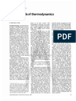 Fundamentals of thermodynamics (2p)