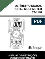 manual multimetro
