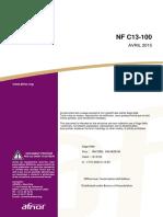 NF C13-100_avril2015