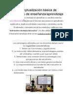 Conceptualización básica de estrategias de enseñanza/aprendizaje