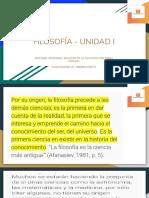 Filosofía - Unidad i