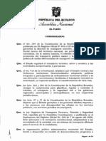 REFORMATORIAS A LA LEY DE TRANSITO