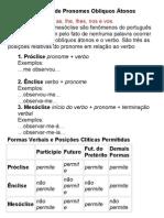 Posições Clíticas de Pronomes Oblíquos Átonos