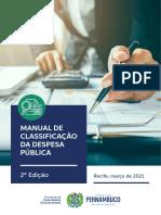 Manual de Classificação da Despesa - SCGE - 21