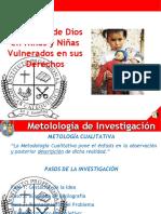 imagenes de Dios en niños y niñas vulnerados en sus derechos