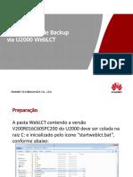 Procedimento Backup via U2000 WebLCT