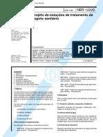 NBR 12209 - 1992 - Projeto de Estações de Tratamento de Esgoto Sanitários