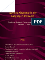 Teaching Grammar in the classroom