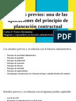Estudios Previos- Una de Las Aplicaciones Del Principio de Planeación