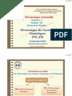 PARTIE I_M1-2 Electronique Des Systèmes Numérique