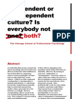 Independent or interdependent culture? Is everybody not both?