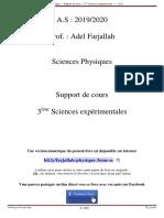 Sc. Physiques, 3ème Sc. Exp. - Support de Cours