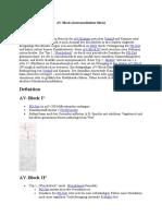 AV-Block (Atrioventrikulärer Block)