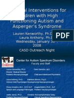 Practical Interventions for Kids with HFA and Aspergers