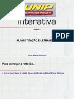 Slides de Aula - Alfabetização e Letramento Unidade II
