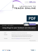Using Blogs for peer feedback and discussion - Case study