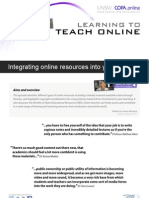 Integrating online resources into your teaching