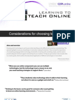 Considerations for choosing technology for teaching