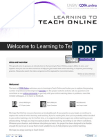Welcome to Learning to Teach Online