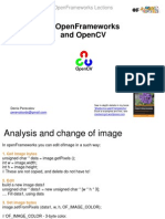 Open Frameworks and OpenCV