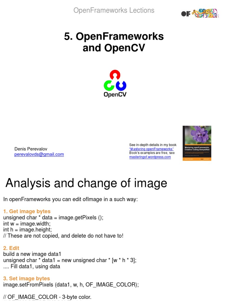 Open Frameworks and OpenCV | Integer (Computer Science) | Library