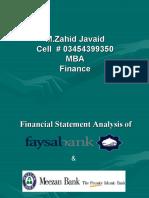 Analysis of Meezan & Faysal Bank